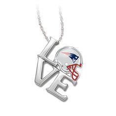 I Love My New England Patriots Pendant