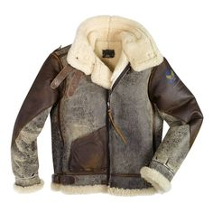100 Mission™ B-3 Bomber Leather Jacket