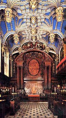 Chapel Royal, Hampton Court Palace, Surrey, England.