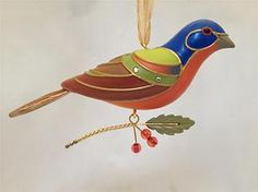 Painted Bunting Hallmark Ornament