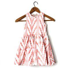 Southwest+Twirling+Dress+in+Peach+on+White+by+thiefandbanditkids,+$56.00