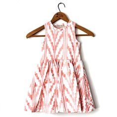 Southwest+Twirling+Dress+in+Peach+on+White+by+thiefandbanditkids,+$56.00