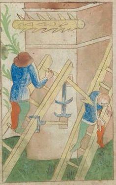 Kriegstechnik (Bilderhandschrift) Oberrhein · um 1420-1440 Ms. Rh. hist. 33b Folio 165v
