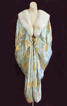 Brocaded satin cocoon evening wrap, c.1917-20, from the Vintage Textile archives