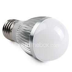 3W E26/E27 Bombillas LED de Globo A50 15 SMD 5630 260 lm Blanco Cálido V 2017 - $90.63