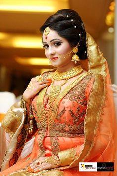 Indian Bridal Makeup, Bridal Makeup Looks, Bridal Beauty, Bridal Looks, Bridal Style, Bridal Hair, Bengali Bride, Pakistani Bridal, Punjabi Bride