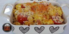 Μακαρονάκι φούρνου με ψητή γαλοπούλα και ντοματίνια