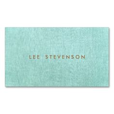 Simple, Turquoise Blue, Stylish Minimalist Double-Sided Standard Business Cards (Pack Of Teacher Business Cards, Salon Business Cards, Hairstylist Business Cards, Artist Business Cards, Custom Business Cards, Minimalist Business Cards, Simple Business Cards, Photographer Business Cards, Photography Business