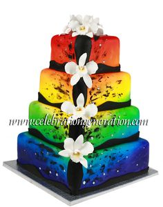 rainbow wedding cakes | ... amazing colorful pride wedding cake from celebration generation cakes