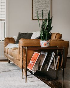 Tan Leather Sofa In Honey Oak Wood 3 Seat Article Timber Modern Furniture