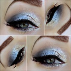 essence eyeshadow palette vintage | Sense of Beauty: 2. Advent - Cyrstal Blue Eye Make Up [Zoeva Metallic ...