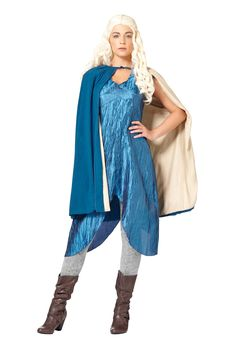 'Game of Thrones' costumes Daenerys Mhysa Image Credit: Spirit Halloween  via @AOL_Lifestyle Read more: http://www.aol.com/article/2014/12/19/an-easy-and-delicious-recipe-for-homemade-eggnog-chai-lattes/21119191/?a_dgi=aolshare_pinterest#fullscreen