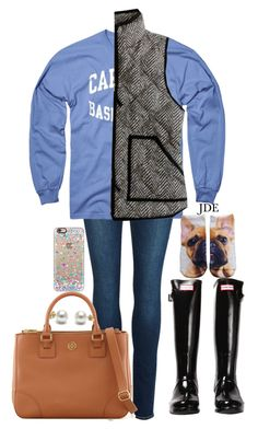 """""""yay!"""" by jane-dodge ❤ liked on Polyvore featuring Paige Denim, New Agenda, J.Crew, Hunter, Living Royal, Tory Burch, Casetify, women's clothing, women's fashion and women"""