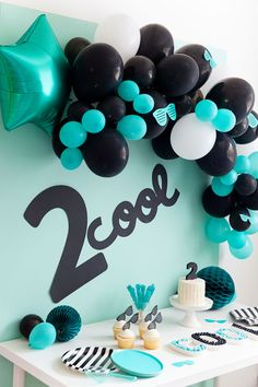 """boy birthday parties This birthday party idea is so much fun, gender neutral, and simple to put together. Find out how to put together this adorable cool"""" party. 2nd Birthday Party For Boys, 2nd Birthday Gifts, Second Birthday Ideas, Halloween Birthday, Frozen Birthday, Birthday Party Decorations, Craft Party, Party Favors, First Birthdays"""