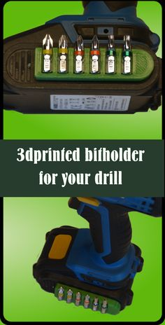 3dprinted bitholder for your drill - With this bitholder all the bits you need will be always at hand and easy to reach.