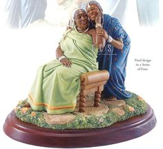 Ebony Visions Sisters Forever In Elder Years Thomas Blackshear brings the Sisters Forever series to a close with the final design in a Series of Four. African American Figurines, African American Dolls, African Figurines, Thomas Blackshear, Black Figurines, Visual And Performing Arts, African American Culture, Sisters Forever, Black Artwork