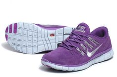 Womens Nike Free 5.0 EXT Suede Purple White Shoes