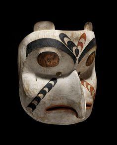 Gitxsan Owl mask, ca 1910, Skeena River, British Columbia,Canada.