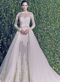 Zuhair Murad wedding gown with long sleeves