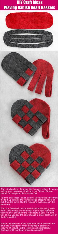 DIY craft ideas: Waving Danish Heart Basket. We used to make these. Can use felt or cardstock.