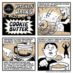 Illustrated Kitchen Hacks: How To Make Cookie Butter