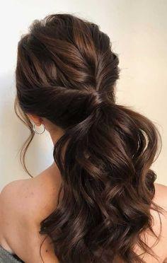 ponytail updos for weddings, ponytail hairstyles, ponytail hairstyles wedding ponytail, prom hairstyles, prom ponytail wedding hairstyles Box Braids Hairstyles, Wedding Hairstyles, Women's Long Hairstyles, Bridesmade Hairstyles, School Hairstyles, Medium Hair Styles, Short Hair Styles, Ponytail Updo, Hair Ponytail Styles