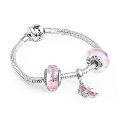 Dancing Butterfly Charm Bracelet 925 Sterling Silver
