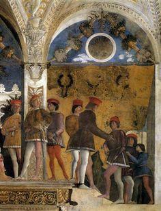 Andrea Mantegna Camera degli sposi Mantova, Palazzo ducale ragazzi partecipano alla corte dei Gonzaga