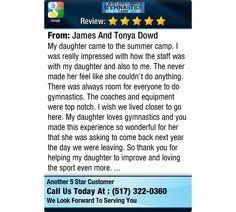 My daughter came to the summer camp. I was really impressed with how the staff was with my...