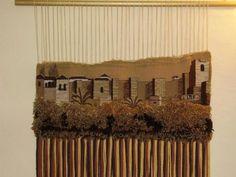 la alcazaba tapiz urdimbre,lanas tapiz artesanal