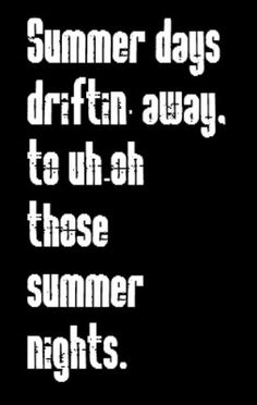 Grease - Summer Nights - song lyrics, music lyrics, songs, song quotes, music quotes