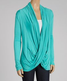 Look what I found on #zulily! Mint Drape Top by sun n moon #zulilyfinds