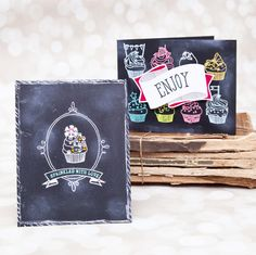 Today is another group post day for Papertrey Ink's January post. We are featuring Baker's Dozen - a wonderful guilt-free stamp and die set. I have created a couple of cards using the chalkboard technique. The new products will be available at Papertrey Ink on January 15 at 10 pm EST.When can…