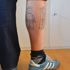 married. with bricks.: uberhusband's Lego tattoo