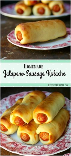 Jalapeno sausage kolaches are pillowy puffs of soft dough filled with gooey…