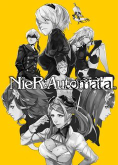 NieR: Automata YoRHa 2B, 9S, A2, Pod 042, Commander, Devola/Popola