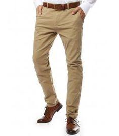 Pánska chinos nohavice béžové Khaki Pants, Fashion, Chinese, Moda, Khakis, Fasion, Trousers