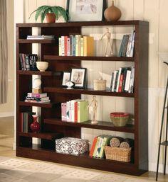 3F7800288PG - Bookcase Console In Cappuccino Finish - Furniture2Go