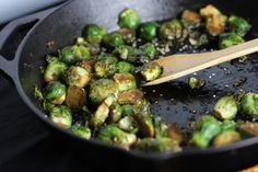 brussels sprouts w/ ginger, honey, + tamarind [Fake Food Free]