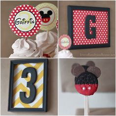 Mickey Mouse Birthday Party Ideas Use oreos and mini oreos for ears then cover in melted chocolate