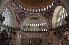 Suleymaniye Camii Bir cuma namazi sonrasi Mosque, Barcelona Cathedral, Istanbul, Ceilings, Allah, House, Ceiling, Haus, God