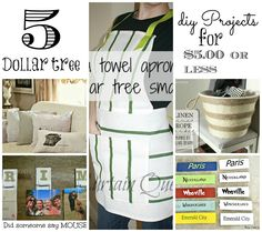 5 for $5.00 Dollar tree craft projects - Debbiedoo's