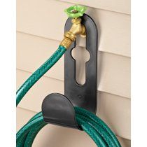 Hanging Wall Hose Holder from Collections Etc. Water Hose Holder, Garden Hose Holder, Outdoor Projects, Garden Projects, Garden Tools, Garden Hose Storage, Collections Etc, Front Yard Landscaping, Backyard