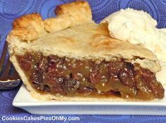 Old Fashioned Raisin Pie - Evidently, it was a popular pie in the 30s/40s/50s.