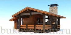 Летняя кухня 38,9 кв. м одноэтажная: заказать строительство летней кухни из клееного бруса - проект от компании Буковель