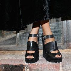 We're crushing hard on the chunky heel and cute peep toe on these platforms! || Shoe Cult Flying High Platforms: http://www.nastygal.com/shoes-platforms/shoe-cult-flying-high-platform?utm_source=pinterest&utm_medium=smm&utm_term=instagram&utm_content=the_cult&utm_campaign=pinterest_nastygal