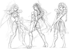 Rough sketch - Female Reaper by engkit on deviantART