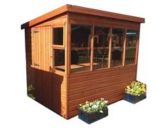 TGB x x Shiplap Sunflower Pent Potting Shed Potting Bench Plans, Potting Sheds, Outdoor Buildings, Outdoor Structures, Shed Design, House Design, Houston Garden, Garden Plant Markers, Teak Outdoor Furniture