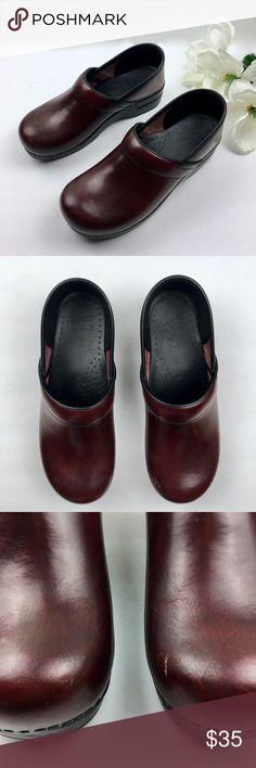 2d9621c001f44 DANSKO Leather Professional Comfort Clogs Size 10 Women s Dansko dark red  leather professional comfort clogs size