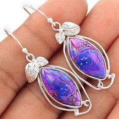 Purple Mohave Turquoise 925 Sterling Silver Earrings Jewelry SE100556 | eBay